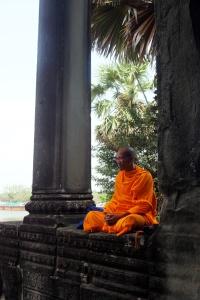 resting monk
