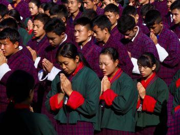 Students at prayer