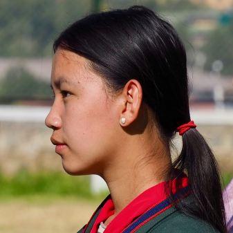 Profile teen girl