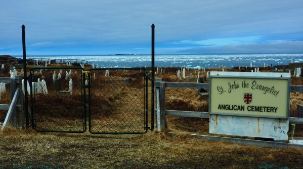 Cemetery sign by the Sea